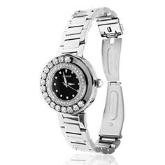 Matashi Crystals 18K White Gold Plated Women's Watch Surrounded by Swiveling Crystals; 3ATM Water Resistant with Adjustable Band Review