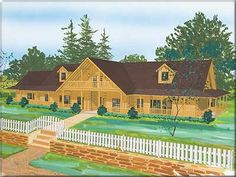 4bdr/4bth Log Home Southern Comfort floor plan  Blake Linton salesman 1-800-777-7288