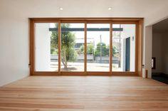 吉野杉の建具・框ドア(明日香の家)奈良県橿原市・木の家・秦建築