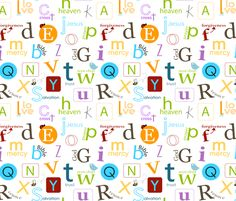 cloth for prayer table    Bible abc for kids fabric by emrick123 on Spoonflower - custom fabric