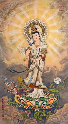 Lotus Buddha, Art Buddha, Buddha Buddhism, Art Magique, Art Chinois, Tibetan Art, Art Japonais, Wow Art, Guanyin