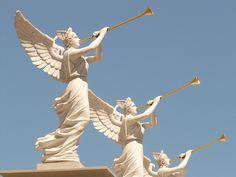 天使, 翼, 送風機, 黄金の, トランペット, ラスベガス, ギャンブル, 市, 興味の場所, アメリカ