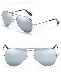 8c027d105a Ray-Ban Aviator Sunglasses with Mirrored Lenses