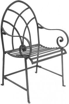 Forged Iron Chair Folk Art Rustic Patiorustic