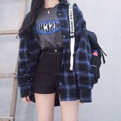 More Colors – More Summer Fashion Trends To Not Miss This Season. More Colors – More Summer Fashion Trends To Not Miss This Season. Edgy Outfits, Korean Outfits, Mode Outfits, Grunge Outfits, Cute Casual Outfits, Girl Outfits, Fashion Outfits, Style Fashion, Fashion Clothes