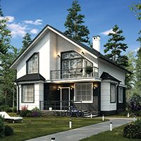 Beautiful Modern Homes, Architectural House Plans, Tudor Style Homes, A Frame House, Village Houses, Tiny House Plans, Facade House, Modern Exterior, House Front