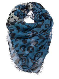 McQ by Alexander McQueen | Animal print scarf #mcqbyalexandermcqueen #scarf #animalprint