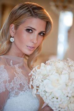 Wedding inspiration. Ivanka Trump's Dress, makeup, hairstyle & jewels