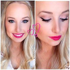 Valentines Makeup Tutorial!! Flirty, Pink Lips!!! <3 #makeup #tutorial #valentinesmakeup #love #datenight #pinklipstick #lipstick #eyebrows
