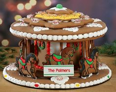 Cookie Gallery - Victorian Gingerbread Carousel (Personalized), $109.99 (http://www.cookiegallery.com/victorian-gingerbread-carousel-personalized/)