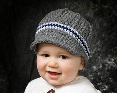 Boys crochet newsboy hat.