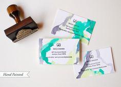 DIY Tutorial: Rubber Stamp Calling Cards