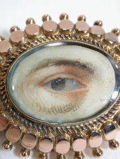 Victorian Eye Brooch