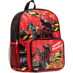 "DinoTrux ""Boom Nailed It!"" Backpack with Lunch - Walmart.com"