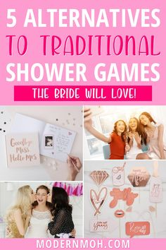 Check out five of our favorite alternatives to traditional bridal shower games. The great thing about these bridal shower activities is that they provide entertainment for the guests and result in a lifelong gift for the bride (double whammy!) #bridalshoweractivities #bridalshoweractivitiesnogames #ModernMOH Bridal Shower Desserts, Bridal Shower Centerpieces, Bridal Shower Activities, Bridal Shower Games, Wedding Advice Cards, Wedding Tips, Bridal Shower Checklist, Maid Of Honor Speech, From Miss To Mrs