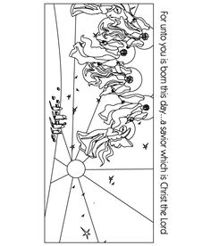 Angels visit shepherds (Luke 2) from http://kids4truth.com/Stuff2Do/ColoringPages.aspx based on their Dynamations