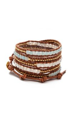 30% off. Great colors - will work with almost any outfit - Chan Luu Interval Beaded Wrap Bracelet