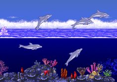 Ecco the Dolphin (Sega, 1992, Megadrive). A really artful game, where you play as a dolphin that has to find its way through an underwater maze. Very unique in every aspect.