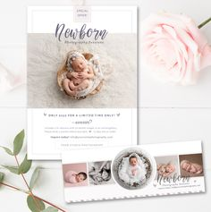 Newborn Bundle Photography Marketing, Baby Marketing Board & Facebook Timeline Bundle, INSTANT DOWNLOAD! by ByStephanieDesign on Etsy