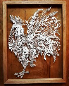 Kirigami, Papercut Art, 3d Cuts, Chinese Paper Cutting, 3d Printing Business, Quilling, Chicken Painting, Rooster Art, Paper Cut Design