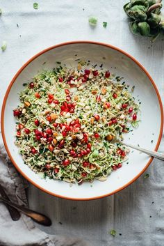 winter buckwheat + shaved brussels sprout bowl • dolly and oatmeal