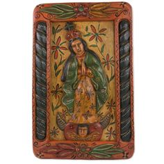 Mary of the Immaculate Conception Wood Relief Panel Wall Décor