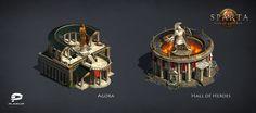 ArtStation - Sparta: War Of Empires, Plarium Ukraine