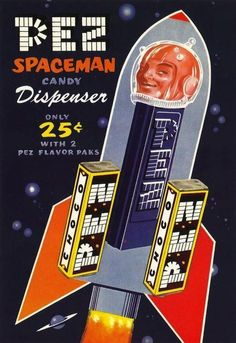 Space Pez - I have dozens of Pez dispensers, but alas, not this one.