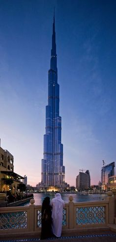 Dubai, United Arab Emirates by Skidmore, Owings & Merrill, 2010, Rising 2,717 feet above the desert. The tower reigns as the tallest structure in the world Its 162 floors contain offices, residences, restaurants, an Armani hotel, and an observation deck, 124 stories up.