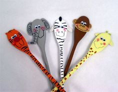 Pinned For Kidfolio The Paing Mobile That Find This Pin And More On Wooden Spoon Crafts
