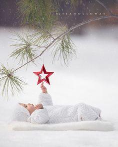 Árvore de Natal e bebê...
