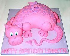 dragon cake pink