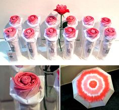 Rosella Folding Umbrella designed by Nothing Design Group: Folds up to look just like a rose!