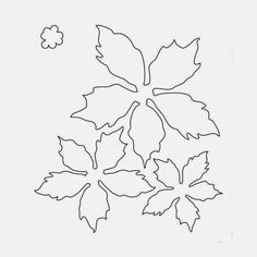 Poinsettia flower template III copy - Her Crochet Poinsettia Flower, Christmas Poinsettia, Felt Christmas, Christmas Ornaments, Christmas Stockings, Felt Flowers, Diy Flowers, Fabric Flowers, Paper Flowers