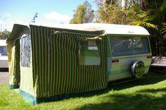 Original Awning With Alphie Retro Caravan, Retro Campers, Caravans, New Zealand, The Originals