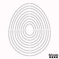 Scrapbooking - Schablonen & Stanzen - Artemio - Artecut - Schneideschablone - Eier 12,50€