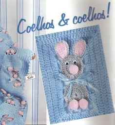 Essa ideia vai bem para uma manta de criança ou até mesmo um colcha de cama para berço...  Uma fofura!!!         Grafico