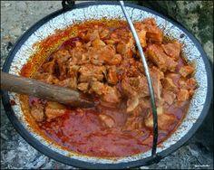 Pörkölt, Hungarian beef and sweet pepper stew.