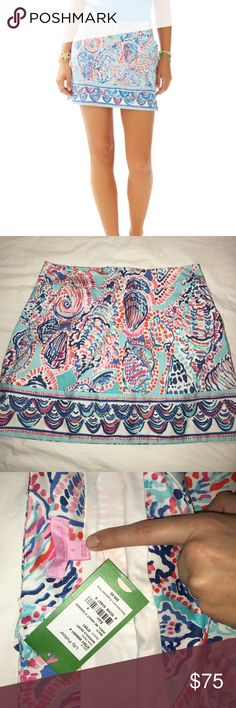 Lilly Pulitzer Marigold Skort 'Shell me about it' •Never worn NWT                                       •Pattern not sold anymore                                •Pockets, small slit on each side giving a very flattering shape                                                •Built in skort shorts (I can upload a picture if you want to see the detail)  *Price negotiable* Lilly Pulitzer Skirts Mini