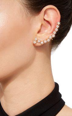 Venus Star White Diamond Ear Cuff by Bee Goddess