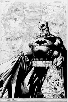Fantastic Unfinished Batman Art by Jim Lee Jim Lee Batman, I Am Batman, Batman Painting, Batman Drawing, Batman Artwork, Batman Wallpaper, Comic Book Artists, Comic Artist, Comic Books Art