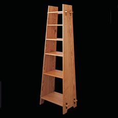 ♥♥ Build a Trapezodial Bookcase: This Arts and Crafts-styled piece combines through-tenon joinery and biscuit-anchored shelves.