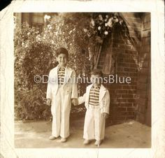 Vintage Photo 2 Young brothers in Matching by foundphotogallery
