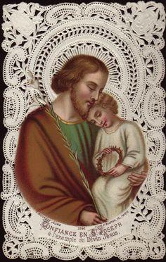 sweet Saint Joseph holy card
