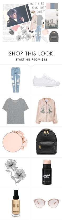 """""""can't I be your last girl?"""" by milda-mint ❤ liked on Polyvore featuring Topshop, adidas Originals, Acne Studios, MANGO, Anastasia Beverly Hills, Moschino, WallPops, Bobbi Brown Cosmetics, Miu Miu and Kevyn Aucoin"""