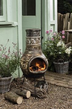 Keep warm and toast marshmallows around your own chiminea #matchmade