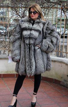 the fox fur is in good condition. m 180 cm. d 48 cm. c 70 cm. e 65 cm. a 95 cm. Long Fur Coat, Fur Coats, Coats For Women, Clothes For Women, Fabulous Furs, Fur Fashion, Fox Fur, Fur Jacket, Style Guides