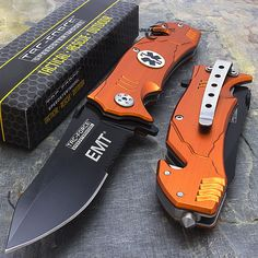 8.25″ TAC FORCE EMT Spring Assisted Tactical Folding Knife $8.95 + Free Shipping!