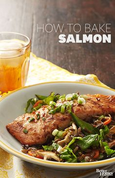 Salmon is a delicious and healthy meat dish to have when you want something that's packed with flavor. Use our directions to properly choose salmon, prepare it and bake it for the best flavor and texture. Pair salmon with a healthy vegetable side dish for a high protein meal.