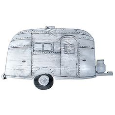Airstream Trailer Wall Decor Signs (180 BRL) ❤ liked on Polyvore featuring home, home decor, wall art, beach wall art, beach scene wall art, beach home accessories, blue home accessories and blue sign